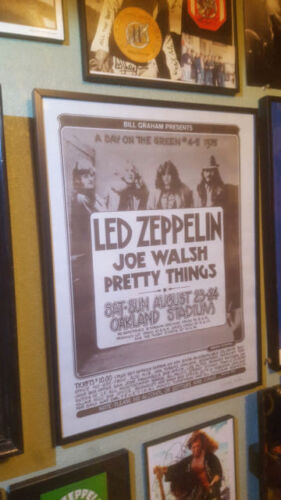 LED ZEPPELIN Original A Day On The Green 1975 Poster Signed By Randy Tuten