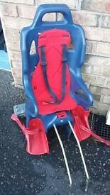 Toddler bicycle seat.