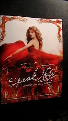 TAYLOR SWIFT  SPEAK NOW 2011 WORLD TOUR CONCERT PROGRAM BOOK