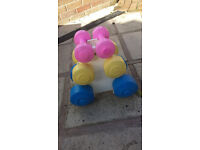 Dumbells set with stand