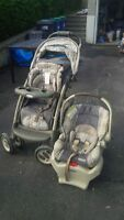 GRACO stroller and car seat (with base) for sale.