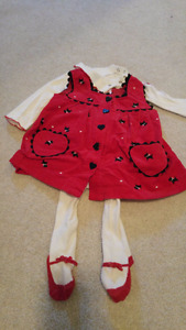 6-9 month red dress