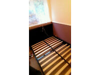 Almost New Faux Leather Double Bed
