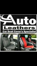 MINICAB LEATHER CAR SEAT COVERS FOR MERCEDES VITO VAUXHALL VIVARO RENAULT TRAFFIC VOLKSWAGEN CADDY