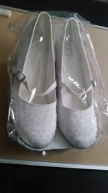 Brand new modern and stylish girls party shoes