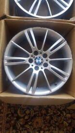18 INCH BMW MV3 ALLOY WHEELS GENUINE M SPORT 5 X 120 WILL FIT E90 E91 E92 E93 E60 E61
