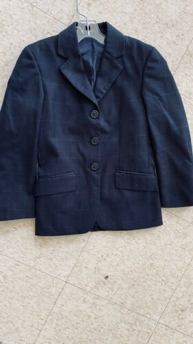 RJ Classic COMPETITION Hunt COAT *Youth 8 *Navy Windowpane*  *VGC