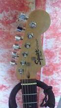 Fender Squier Stratocaster + amp + guitar lead Nerang Gold Coast West Preview