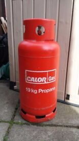 19kg Calor gas bottle and gas
