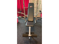 Used, Sports & Outdoors … Folding Weight Bench & Weight Rack (WeRsports) & Pro OIympic Chrome E-Z Curl Bar for sale  Kilmarnock, East Ayrshire