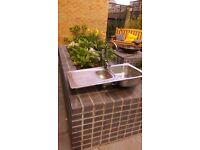 Stainless steel sink ..no taps kitchen