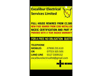 Excalibur Electrical Services Ltd, for all your electrical needs.