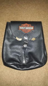 Authentic Harley Davidson leather backpack
