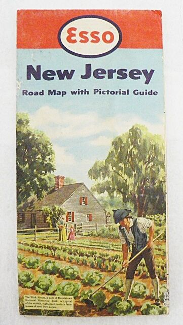 ESSO STANDARD OIL COMPANY 1952 NEW JERSEY ROAD MAP