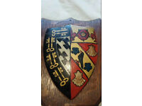 Hand painted coat of arms