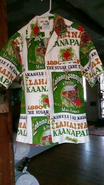 Lahaina Kaanapali Railroad Maui Hawaii Sugar Cane Train Shirt (M)