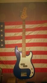 High Quality Precision Bass copy, with sturdy Hardcase