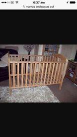 Mamas and papas oak affect cot