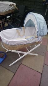 3 x moses baskets available