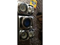Pioneer speakers and Panasonic subwoofer