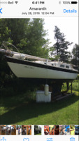 RARE well preserved project sailboat-ABBOTT 28