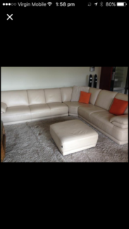 Demir Leather Lounge - Immaculate Condition