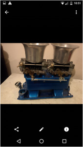 HOLLEY CARBS FOR SALE/ 2X4 TUNNEL RAM AND BLOWER