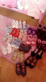 17 pairs of girls shoes