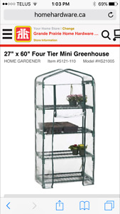 Two Four Tier Mini Greenhouses
