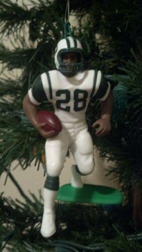 Curtis Martin New York Jets #28 Football Christmas Tree Ornament White Jersey