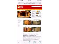 Garden sheds winter sale now on