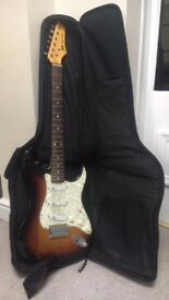 AXL Electric Guitar - with carrying case and stand