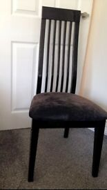 Grey and black gloss chair