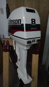 JOHNSON 8 HP OUTBOARD MOTOR BOAT ENGINE