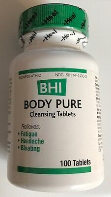 BHI Homeopathic Body Pure 100 Tablets - New Sealed - Manufactured by Heel Body Pure 100 Tablets