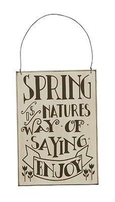 VINTAGE WOOD~SPRING...NATURES WAY OF SAYING ENJOY~PLAQUE/HANGING/ORNAMENT/WREATH](Vintage Halloween Sayings)