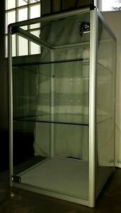 Anodized Aluminum Frame Glass Display Case