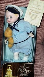 1982 ROYAL DOULTON PRINCE WILLIAM PORCELAIN DOLL,BEAR,COA,BOX