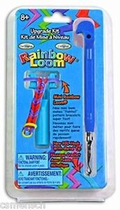 Rainbow-Loom-Upgrade-Kit-NEW-Metal-Hook-and-Mini-Loom-in-Blue-Authentic