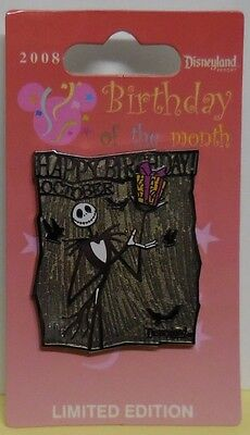 Disney Pin DLR Birthday of the Month 2008 October Jack Skellington Pin - Jack Skellington Birthday