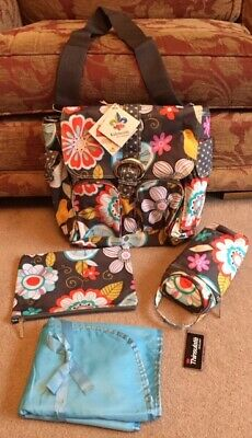 KALENCOM DOUBLE DUTY CROSSBODY COVERTS TO BACKPACK CHANGING BAG TWEETIE PIE  New