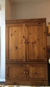 SOLID WOOD CABINET/ARMOIRE