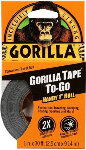 Gorilla 3044401 Tape Handy Roll, 1 Pack, Black 1 Pack GREAT DEAL!!