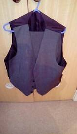 M&S suit jacket (sleeveless) 38-40 chest and trousers 34w/32l