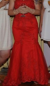 Formal Red Gown / Dress Size 10