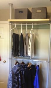 UNIQUE ADJUSTABLE CLOSET/SHELVING-ORGANIZATION SYSTEM - PKG 1