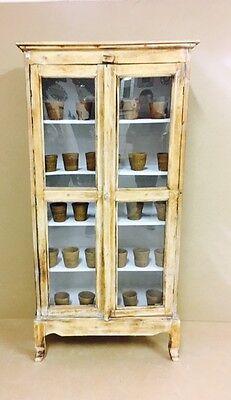 Armadietto Pensile Ecru vetrina Opium Credenza mobili etnici Arredamento etnico