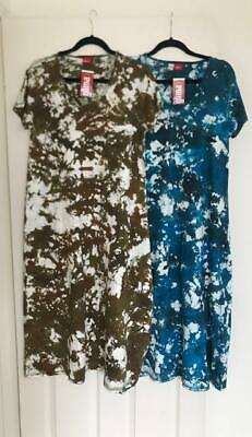 NWT Glima Women's A  Tie dye dress 2 colors comfortable V neck