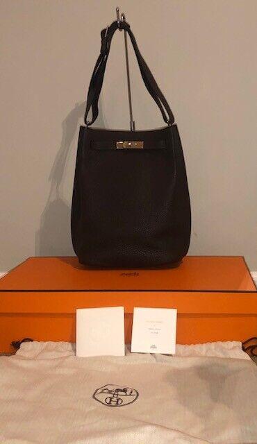 Authentic Hermes So Kelly Bag 22 Chocolat Brown Palladium Hardware NEW wReceipt