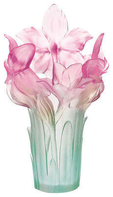 Daum Crystal Amaryllis Pink Vase 03534-1